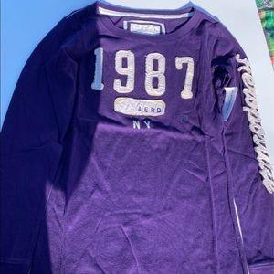 Aeropostale purple long sleeve
